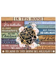 In this house 17x11 Poster front