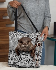 Cute otter All-over Tote aos-all-over-tote-lifestyle-front-10