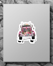 I love my trucker Sticker - 4 pack (Vertical) aos-sticker-4-pack-vertical-lifestyle-front-09