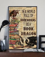 In a world full of bookworms 11x17 Poster lifestyle-poster-2