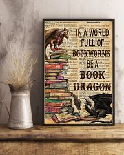 In a world full of bookworms 11x17 Poster lifestyle-poster-3