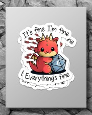 It's fine I'm fine Sticker - 4 pack (Vertical) aos-sticker-4-pack-vertical-lifestyle-front-09