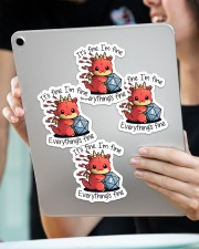 It's fine I'm fine Sticker - 4 pack (Vertical) aos-sticker-4-pack-vertical-lifestyle-front-11