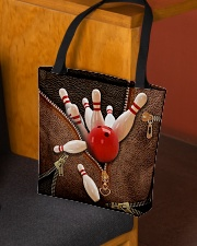 Bowling Leather pattern print All-over Tote aos-all-over-tote-lifestyle-front-02