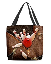 Bowling Leather pattern print All-over Tote front