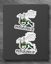 And into the forest I go Sticker - 4 pack (Horizontal) aos-sticker-4-pack-horizontal-lifestyle-front-10