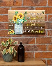 I want to be like a sunflower 17x11 Poster poster-landscape-17x11-lifestyle-23