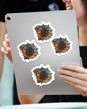 Sunflower sticker Sticker - 4 pack (Vertical) aos-sticker-4-pack-vertical-lifestyle-front-11