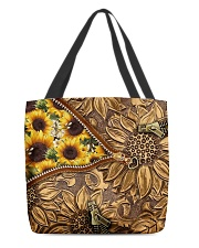 Love sunflower inside out All-over Tote front