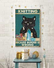 Knitting because murder is wrong  11x17 Poster lifestyle-holiday-poster-3