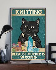 Knitting because murder is wrong  11x17 Poster lifestyle-poster-2