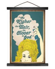 The higher the hair 12x16 Black Hanging Canvas thumbnail