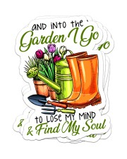 And into the garden I go Sticker - 4 pack (Vertical) front