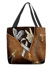 Peace love cure leather pattern print All-over Tote front