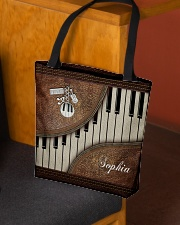 Pianist Tote Leather Pattern Print All-over Tote aos-all-over-tote-lifestyle-front-02