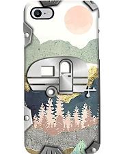 Camping Metal Pattern Print Phone Case i-phone-8-case