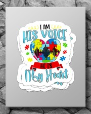 I am his voice he is my heart Sticker - 4 pack (Vertical) aos-sticker-4-pack-vertical-lifestyle-front-09