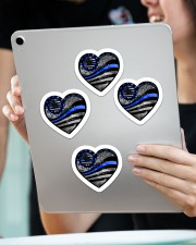 Back the blue Sticker - 4 pack (Vertical) aos-sticker-4-pack-vertical-lifestyle-front-11