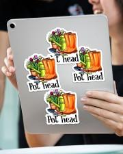 Pot head Sticker - 4 pack (Vertical) aos-sticker-4-pack-vertical-lifestyle-front-11