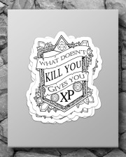 What doesn't kill you gives you XP Sticker - 4 pack (Vertical) aos-sticker-4-pack-vertical-lifestyle-front-09