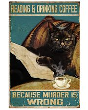 Reading and drinking coffee 11x17 Poster front