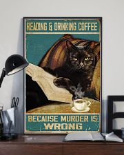 Reading and drinking coffee 11x17 Poster lifestyle-poster-2