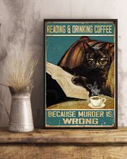 Reading and drinking coffee 11x17 Poster lifestyle-poster-3