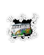 Hippie van crack sticker Sticker - 4 pack (Vertical) front