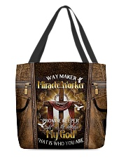 That's who you are leather pattern print All-over Tote front
