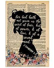 For god hath not given 11x17 Poster front