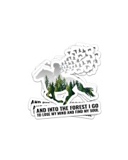 And into the forest I go Sticker - 4 pack (Horizontal) front