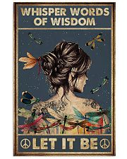 Whisper words of wisdom 11x17 Poster front