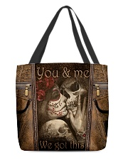 We got this leather pattern print All-over Tote front
