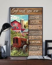 God says you are Faux wood print 11x17 Poster lifestyle-poster-2