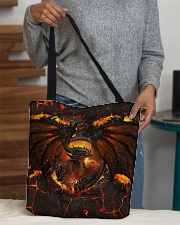 Burning dragon All-over Tote aos-all-over-tote-lifestyle-front-10