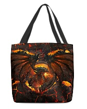 Burning dragon All-over Tote back