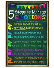 5 steps to manage emotions 11x17 Poster front