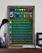 5 steps to manage emotions 11x17 Poster lifestyle-poster-2