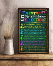 5 steps to manage emotions 11x17 Poster lifestyle-poster-3