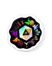 Holographic D20 Sticker - 4 pack (Vertical) front