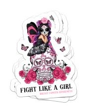 Fight like a girl Sticker - 4 pack (Vertical) front