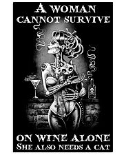 A woman cannot survive 11x17 Poster front