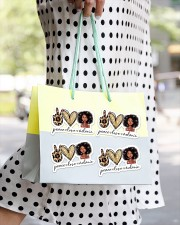 Peace love melanin Sticker - 4 pack (Horizontal) aos-sticker-4-pack-horizontal-lifestyle-front-24