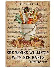 She works willingly with her hands 11x17 Poster front