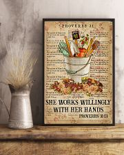 She works willingly with her hands 11x17 Poster lifestyle-poster-3