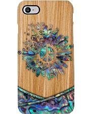Hippie Soul Faux Wood Print Phone Case i-phone-8-case