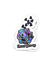 Never give up Sticker - 4 pack (Vertical) front