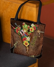 Puerto Rican Pride Leather Pattern Print All-over Tote aos-all-over-tote-lifestyle-front-02