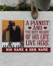 """the pianist Doormat 22.5"""" x 15""""  aos-doormat-22-5x15-lifestyle-front-01"""