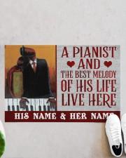 """the pianist Doormat 22.5"""" x 15""""  aos-doormat-22-5x15-lifestyle-front-06"""
